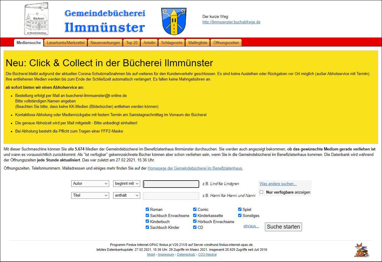 Bücherei Online - FINDUS - Die Büchersuchmaschine